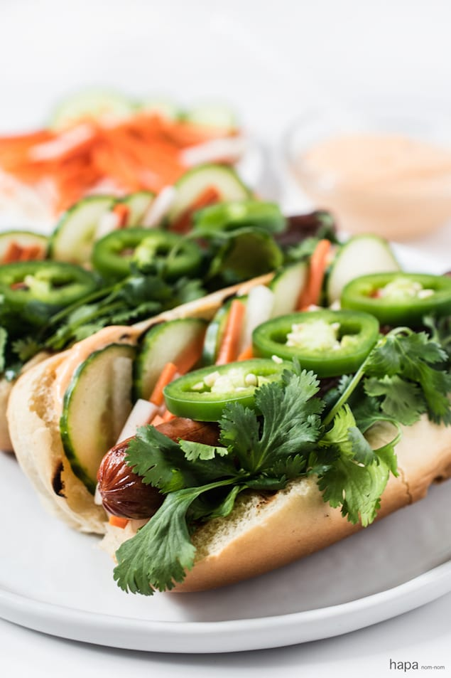 Bánh Mì Hot Dog Toppings – Honest Cooking