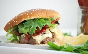 Bison Burgers with Blue Cheese & Bacon-4