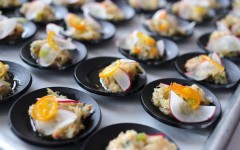 Chef Digby Saltfish Mojo Dish at Rum and Rhythm. Credit - Imran Stephen