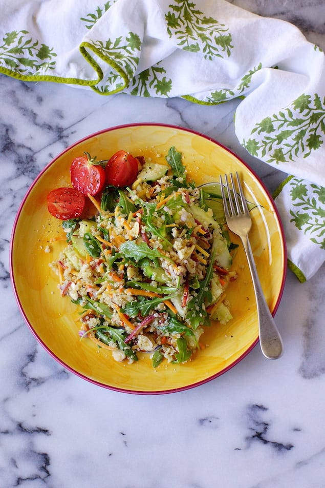 Carrot and Arugula Quinoa Salad with Almonds