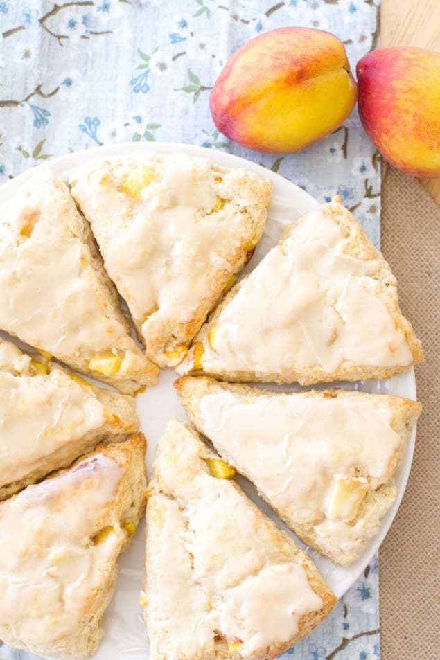 Mini Glazed Peach Scones Recipe — Dishmaps