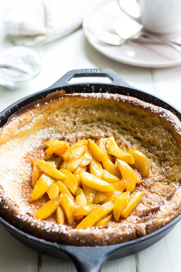 Peach Dutch Baby Pancake