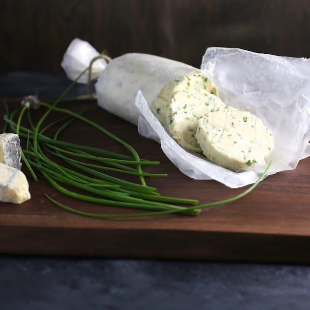 Castello Summer of Blue — Grilled Steak with Blue Cheese and Chive Butter