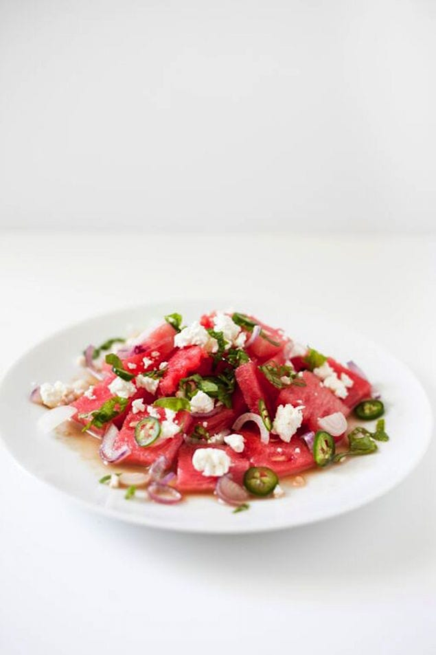 Spicy Watermelon and Feta Salad