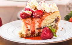 Strawberry-White Chocolate Cheesecake