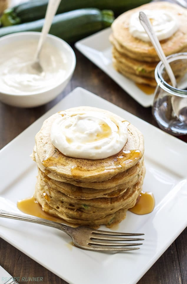 Sweet Zucchini Bread Pancakes