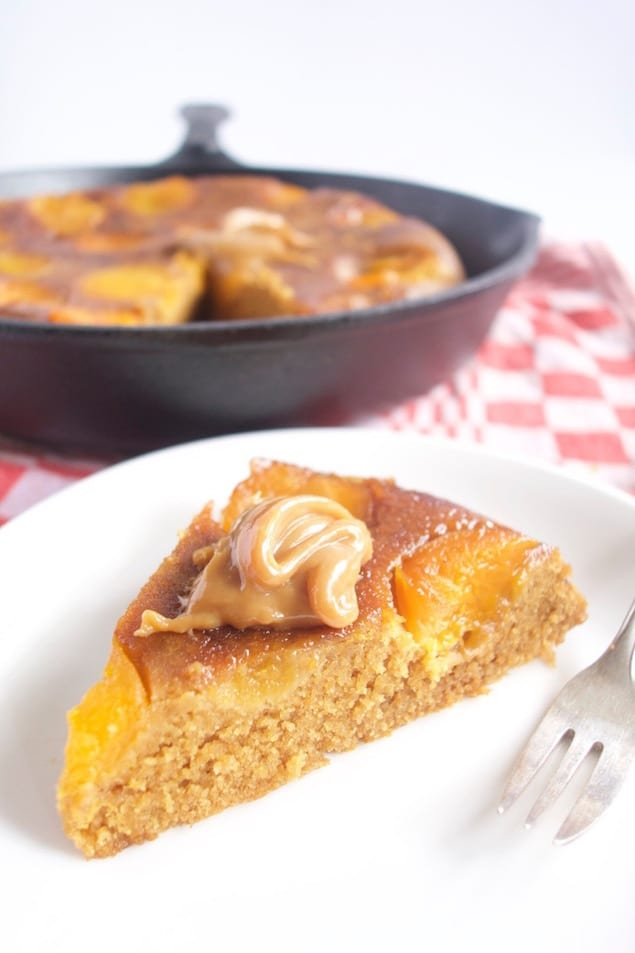 Upside Down Apricot Cake with Caramel