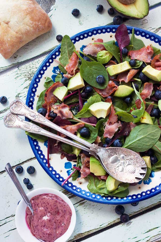 Blueberry and Bacon Salad