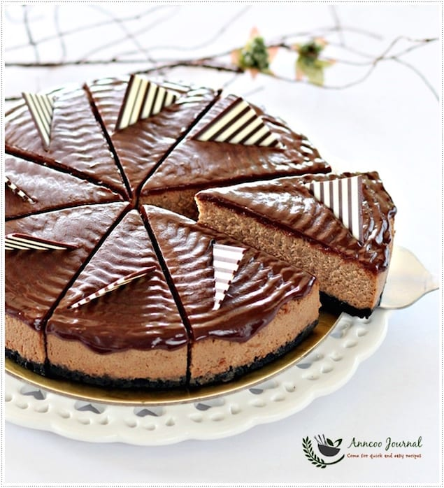 Chocolate-Coffee Cheesecake with Ganache – Honest Cooking