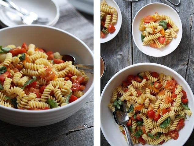 Grilled Summer Tomato Pasta Salad