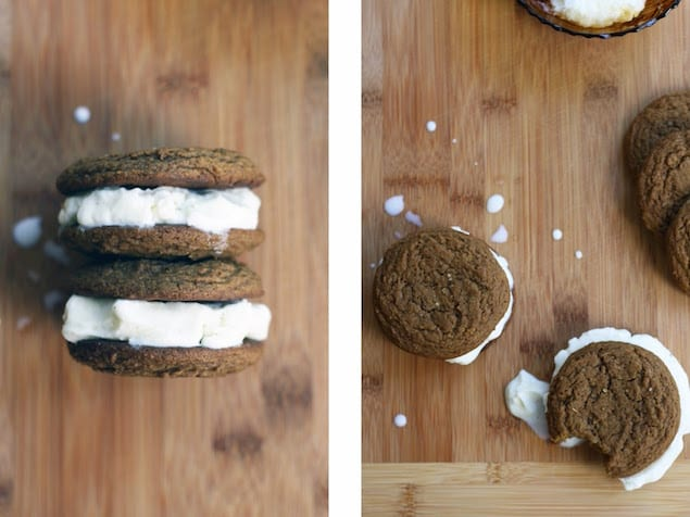 Vanilla and Ginger Ice Cream Sandwiches