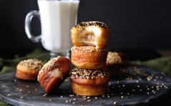 Tahini and Honey Filled Doughnuts