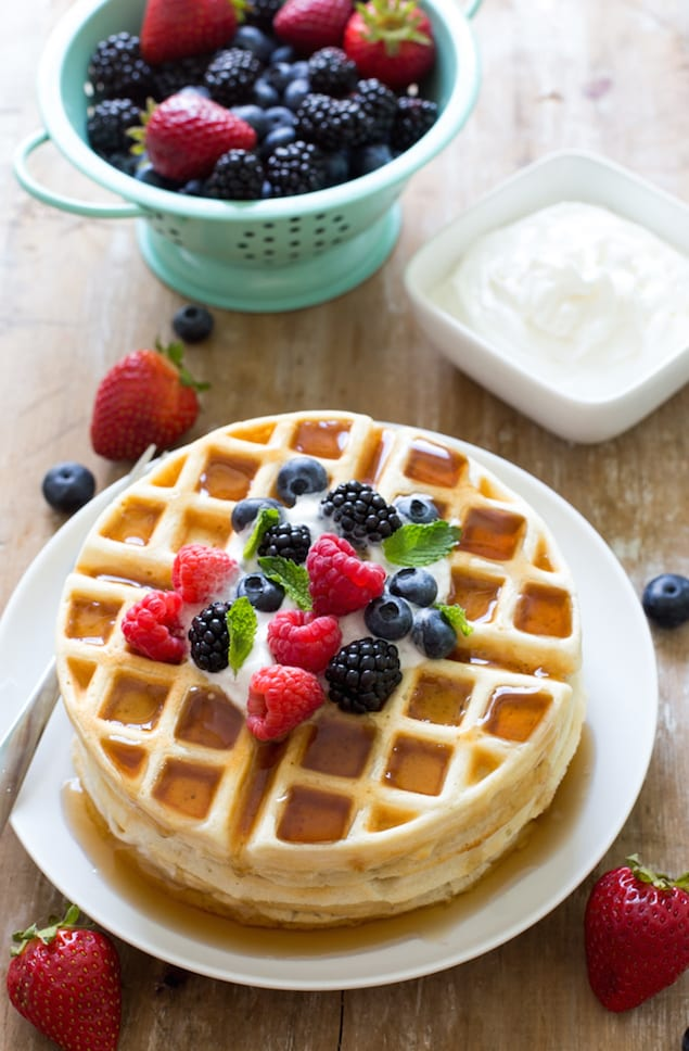Perfect Greek Yogurt Waffle Batter