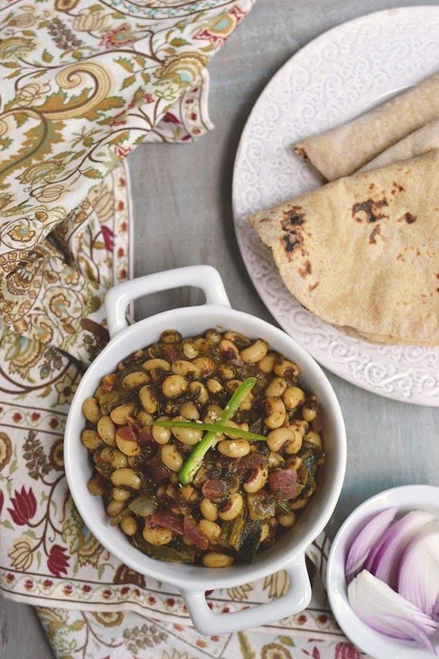 ... or Sorrel Spinach and Black eyed Peas curry is an Indian favorite