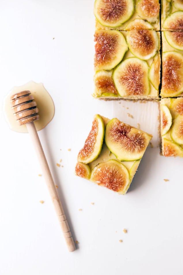 Honey and Fig Cheesecake Bars