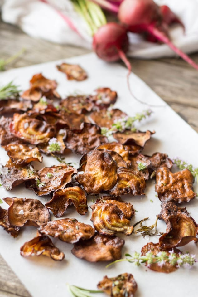 Crispy Baked Beet Chips – Honest Cooking
