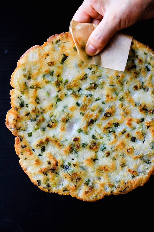Rather than needing the dough, this Chinese scallion pancake recipe is ...