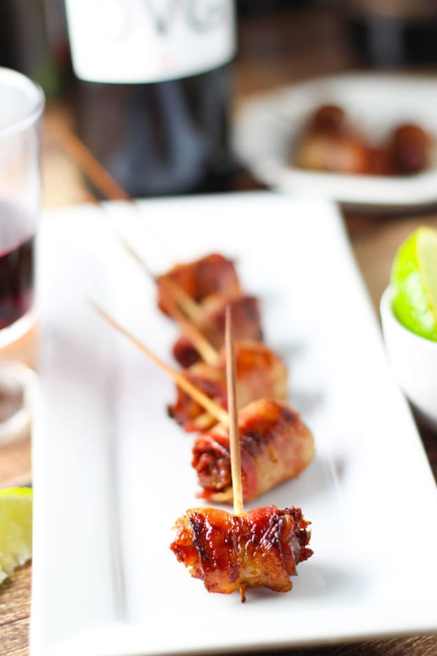 Garnacha Day — Bacon Wrapped Dates and Marcona Almonds