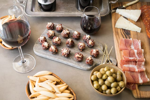 Garnacha Day — Chorizo Filled Mushrooms