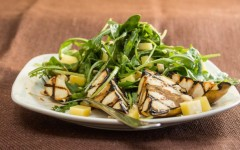 Grilled Pear Salad with Arugula and Hazelnuts