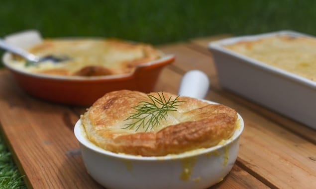 Summer Squash and Feta Pot Pie