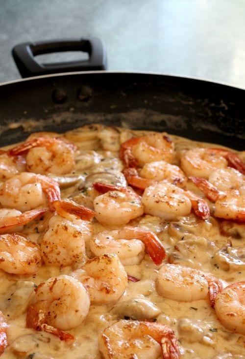 Garnacha Day — Shrimp Toasts and White Wine Sauce
