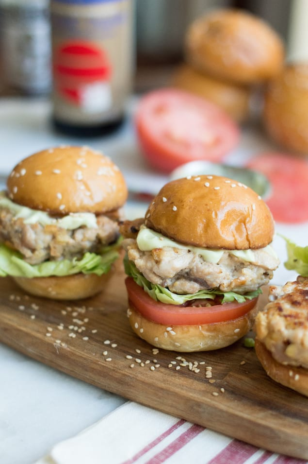 Wasabi Aioli and Tuna Sliders