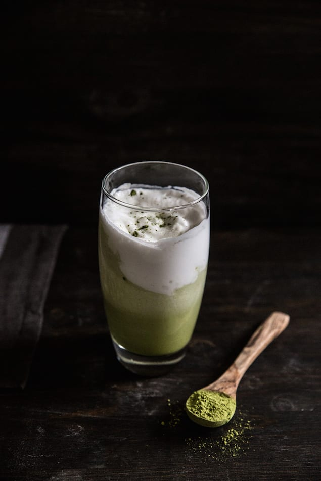 Iced Matcha and Coconut Latte