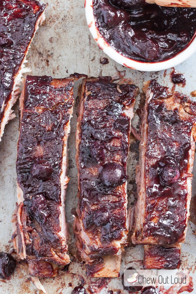 Blueberry Sauced and Baked Ribs