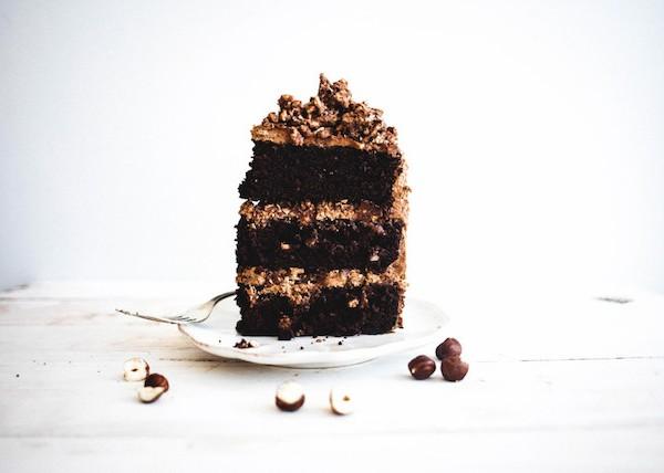 Chocolate Hazelnut Crunch Cake