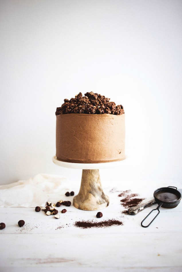 Chocolate Hazelnut Crunch Cake