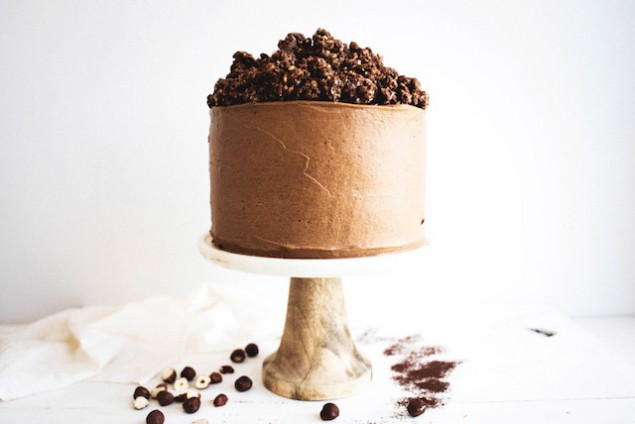Chocolate Hazelnut Cake With Praline Chocolate Crunch Recipes ...