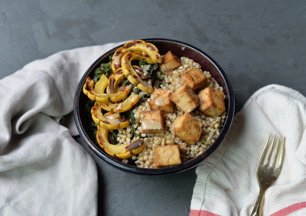 Squash and Tahini Tofu Bowl