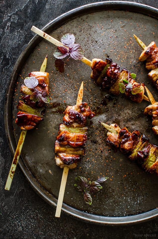 Chicken & Scallion yakitori