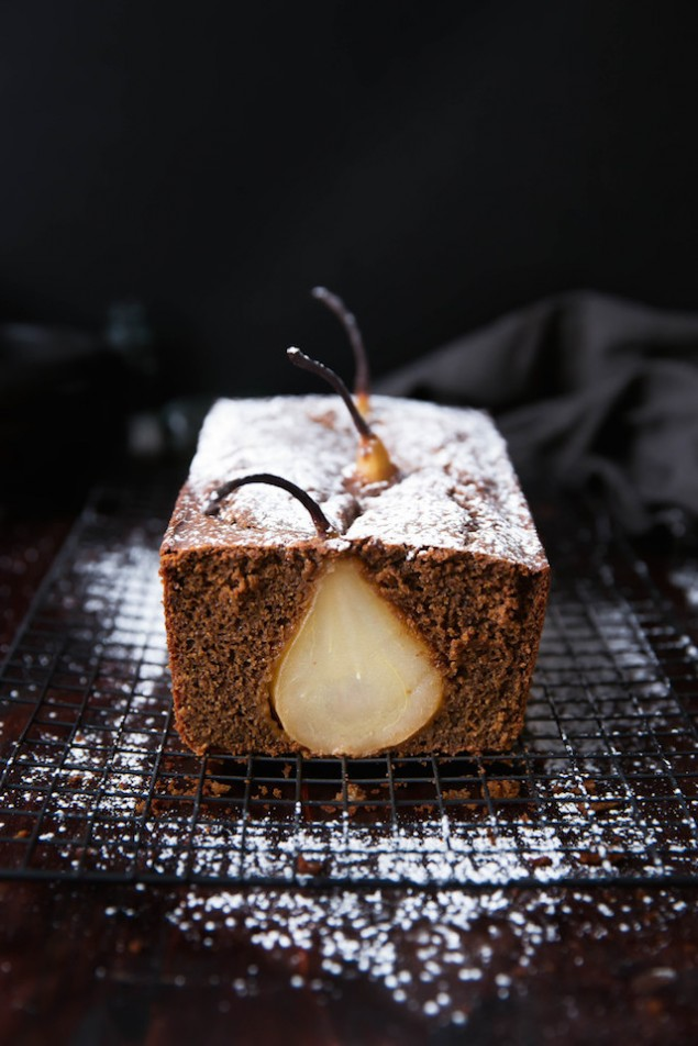 Poached Pear Ginger Cake