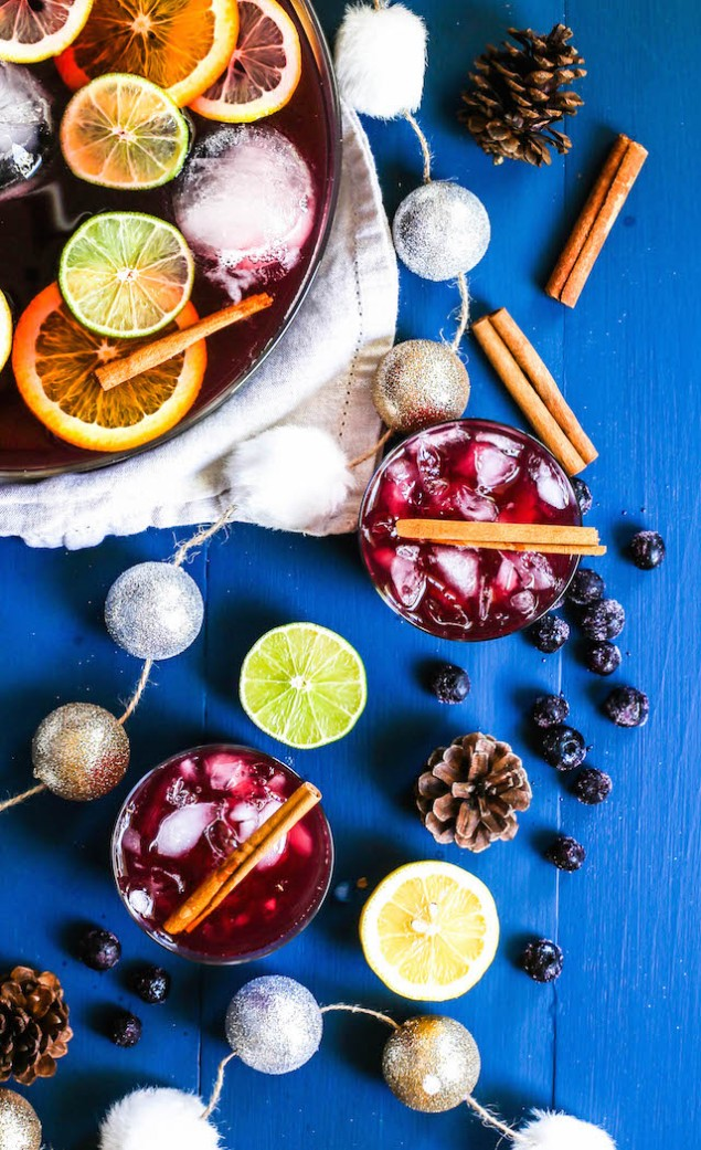 Spiced Blueberry Rum Punch