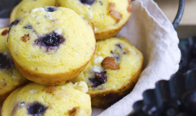 Bacon and Goat Cheese Blueberry Muffins – Honest Cooking
