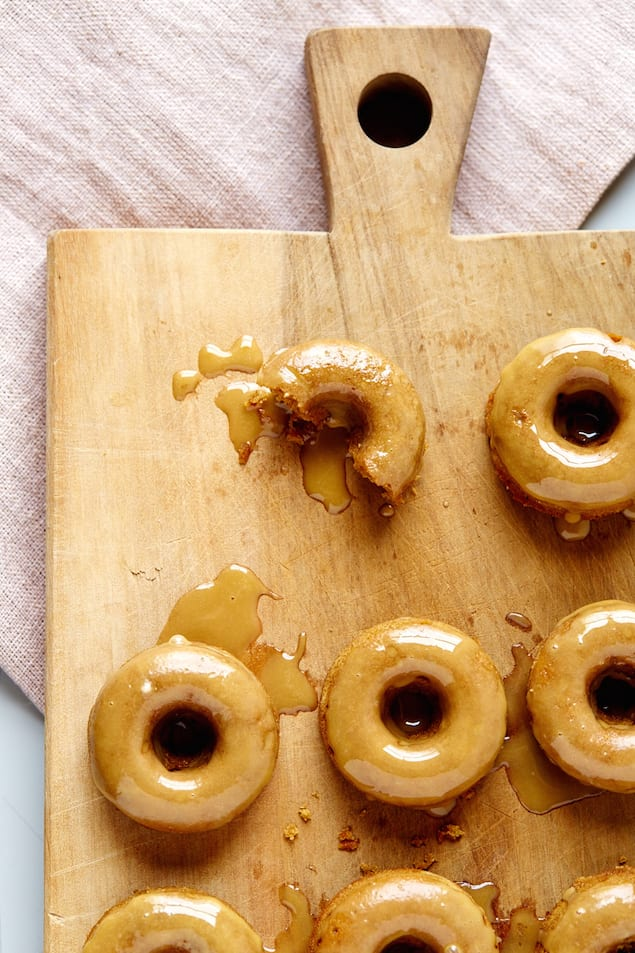 Spiced Maple Donuts with Maple Molasses Glaze