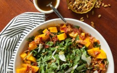 Bacon and Pumpkin Salad with Maple Vinaigrette