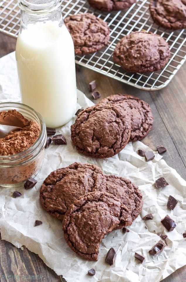 Soft Chocolate and Almond Cookies
