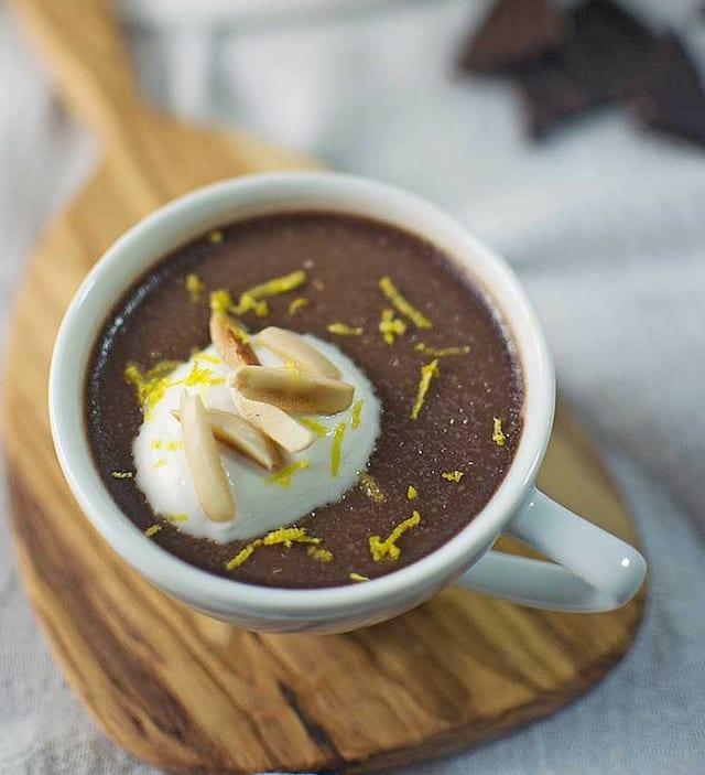 ... Scallops with Artichoke Risotto and Chocolate Limoncello Panna Cotta