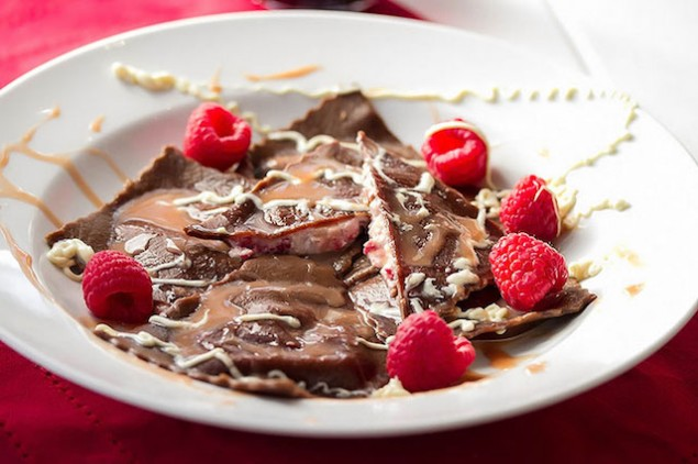 Italian Holiday Table: Flank Steak with Artichoke Lemon Risotto and Chocolate Ravioli Dessert