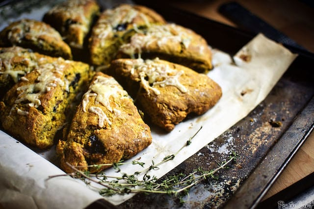 Savory Pumpkin and Blueberry Scones with Cheddar