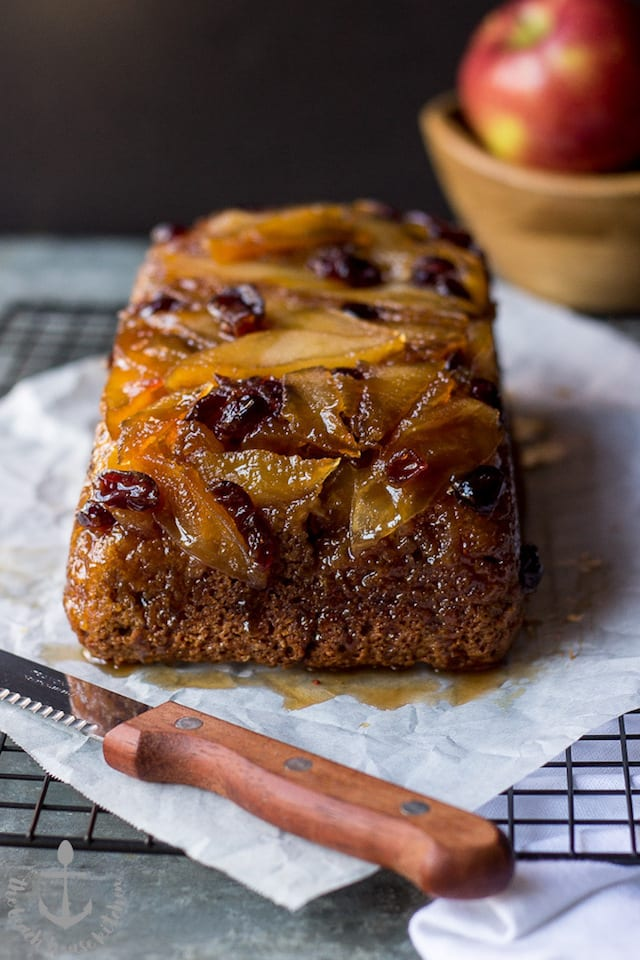 Upside Down Cranberry Apple Cake
