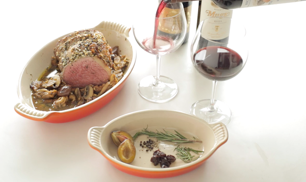 The Holiday Flavors of Rioja Wine: Garlic and Rosemary Crusted Beef Roast