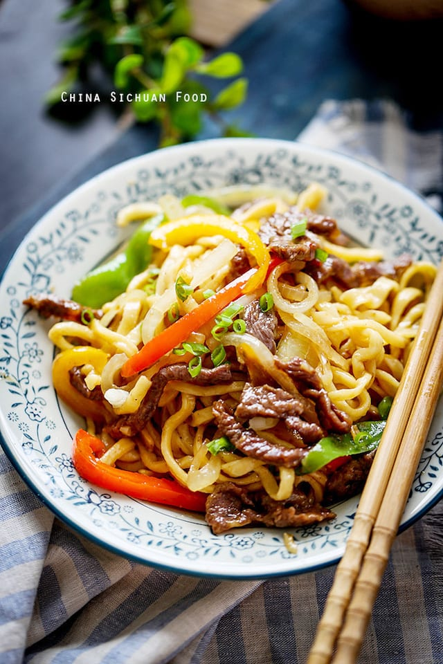 Homemade Beef Chow Mein