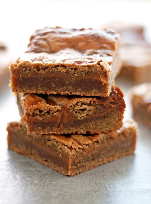 Brown Butter Caramel Blondies – Honest Cooking