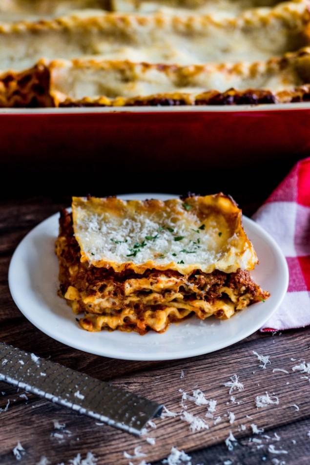 Italian Holiday Table: Lasagna Bolognese and Hazelnut Chocolate Cannoli