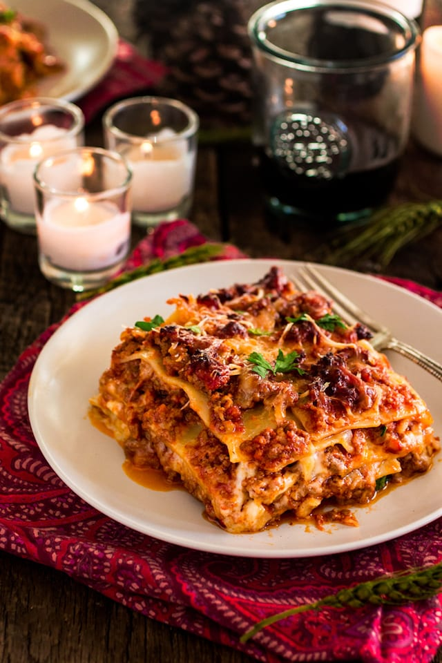 Italian Holiday Table: Lasagna Bolognese and Chocolate Tart with a ...