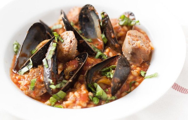 sausage+mussel+risotto+recipe